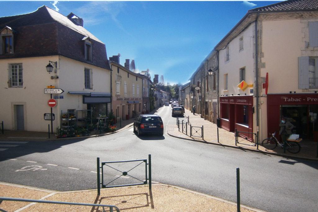 Rue principale de Saint-Pardoux-la-Rivière